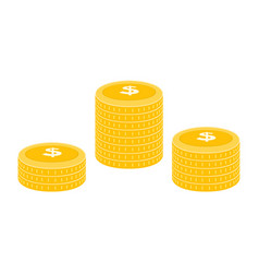 realistic dollar coin icon design template gold vector image
