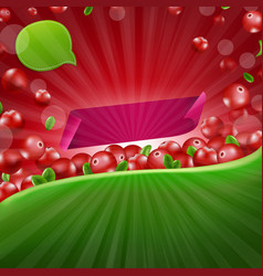 Red cranberry border poster vector