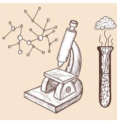 School props chemistry vector