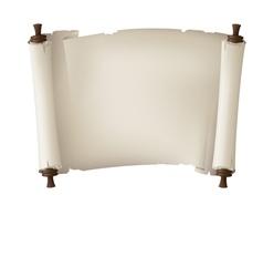 Scroll paper banner vector