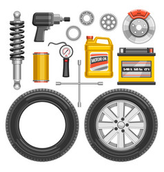 Set auto parts vector