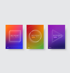 set modern covers for reports and catalogs vector image