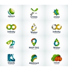Set of abstract logo icons vector image