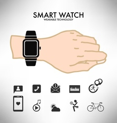 Smart watch wearable technology infographics vector