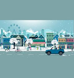 Snow city vector