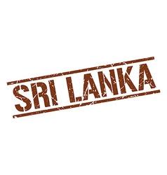 Sri Lanka brown square stamp vector