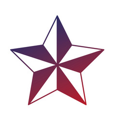 star emblem isolated icon vector image