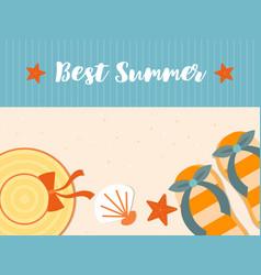 summer vacation summer beach poster vector image