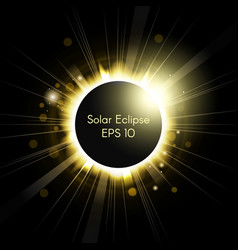 Total solar eclipse vector