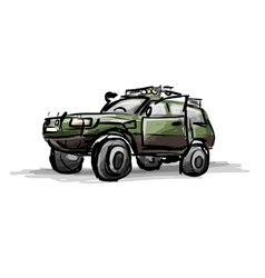 Tuned jeep sketch for your design vector
