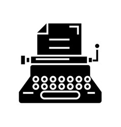 typewriter - writer - writing - copywriting icon vector image