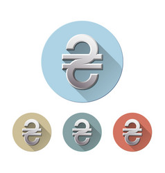 ukrainian hryvnia currency sign vector image