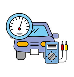 Vehicle speedometer and diagnostic automotive vector