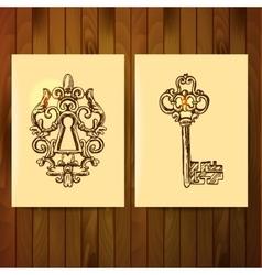 Vintage key vector