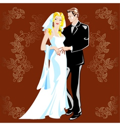 wedding portrait vector image