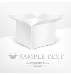 White box realistic vector image vector image