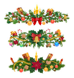 winter holidays christmas decorations vector image