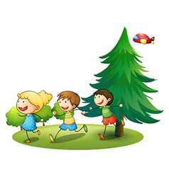 Children running vector image vector image