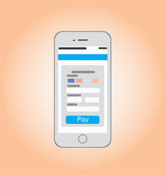 Mobile phone with payment screen vector