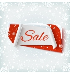 Sale abstract banner on winter background vector image