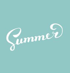 summerbrush handwritten lettering vector image vector image