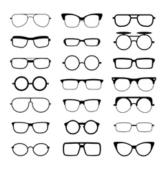 Sunglasses eyeglasses geek glasses different vector image vector image