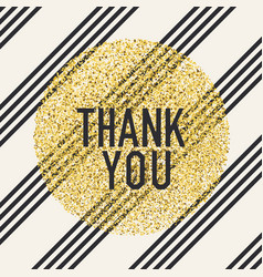 thank you invitation card design template vector image vector image