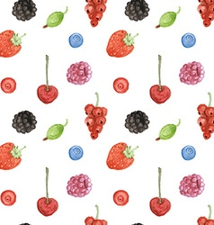 Watercolor berry in vintage style vector image vector image