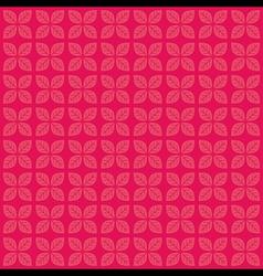 creative pink leaf design pattern background vector image vector image