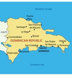 Dominican Republic - map vector image