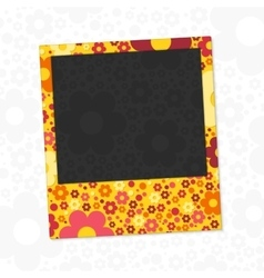 Flowers photo frame vector image