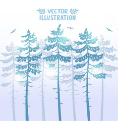 pine background vector image