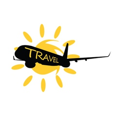 travel with airplane vector image vector image