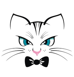 Cat T-shirt Print vector image