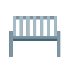garden chair isolated icon vector image vector image