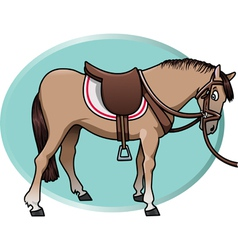 horse and saddle vector image vector image