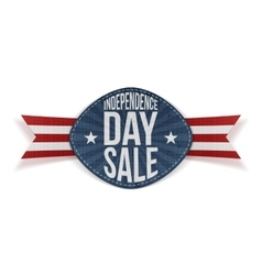 Independence Day Sale scratched Banner vector image