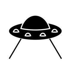 ufo taking cow icon black vector image vector image