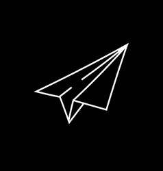 paper airplane sketch icon vector image vector image