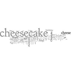 A brief history of cheesecake vector
