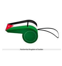 A Whistle of Hashemite Kingdom of Jordan vector image