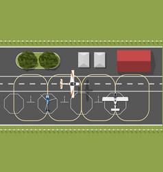 aerodrome flying academy top aircraft vector image