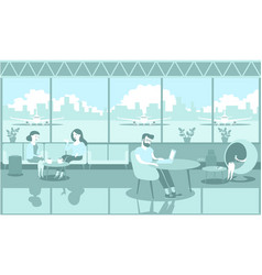 airport lounge zone vector image