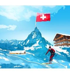 Alps Switzerland landscape vector
