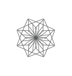 Ancient geometric emblem for decorating your own vector