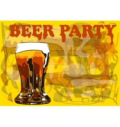 Beer party vector