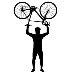 Bicycle above my head vector image