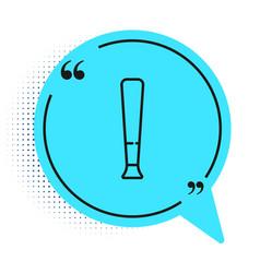 black line baseball bat icon isolated on white vector image