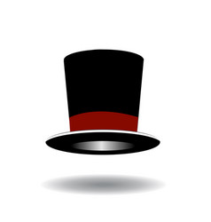 black top hat vector image