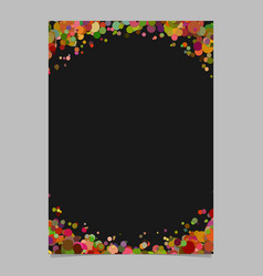 Blank abstract confetti circle poster background vector